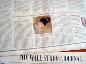 Photo of Wall Street Journal featuring an image of Violet Blue