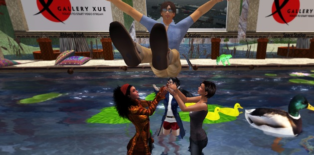 Performance Image from VB30 Born Again, dunking a noob in the VB/CO Villa pool