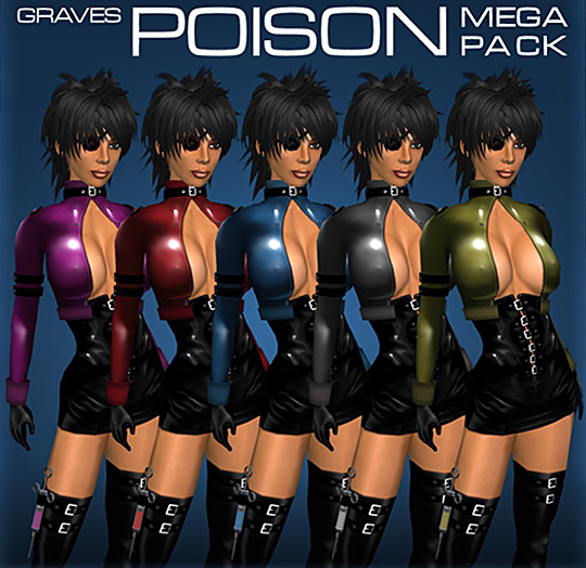 "Advertising Poster for Graves Leather Latex Metal's ""Poison"" outfit"