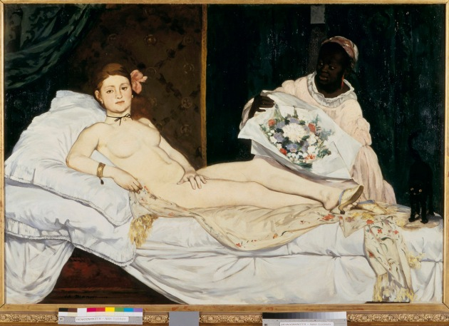 Olympia by Victorine Meurent and Edouard Manet