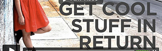 "detail of Allison Weiss kickstarter image with text ""get cool stuff in return"""