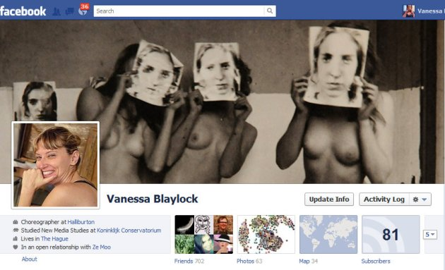My new Profile Pix and Timeline Cover photo on Facebook