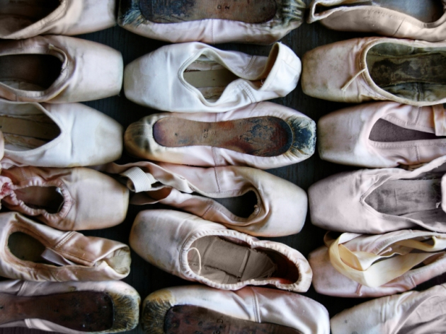 photo of many ballet toe shoes