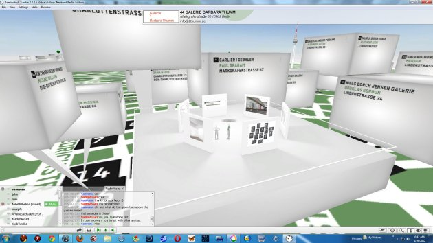 "screenshot from the virtual world ""Virtual Gallery Weekend Berlin"""