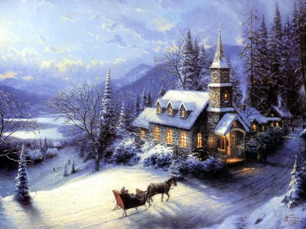 painting by Thomas Kinkade
