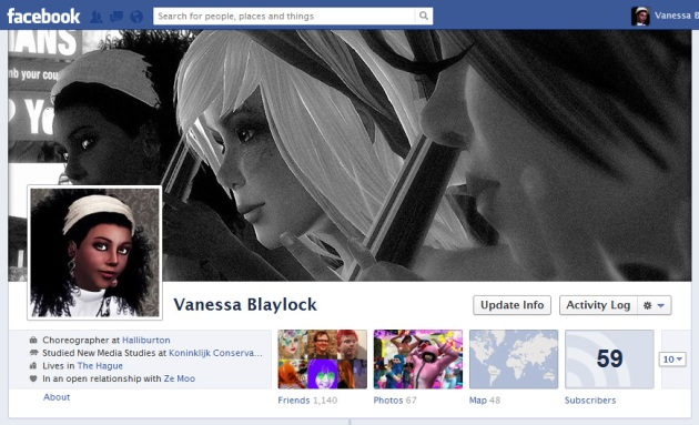 Screen Cap of Vaneeesa Blaylock's Facebook profile photo & Timeline cover