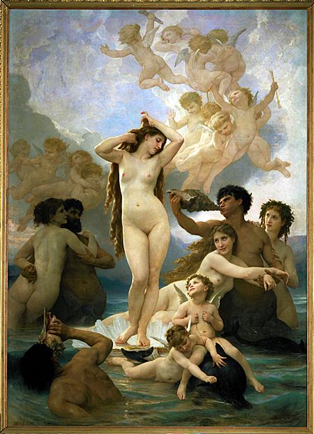 Birth of Venus by William Bouguereau, 1879