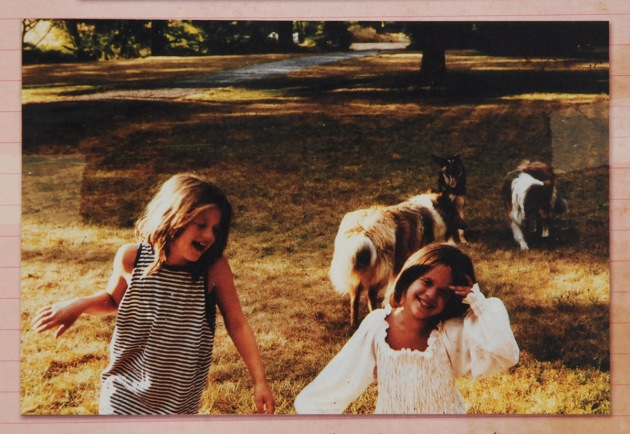 Out playing with my sister Fiona and our dogs on Martha's Vineyard in the summer of 1977