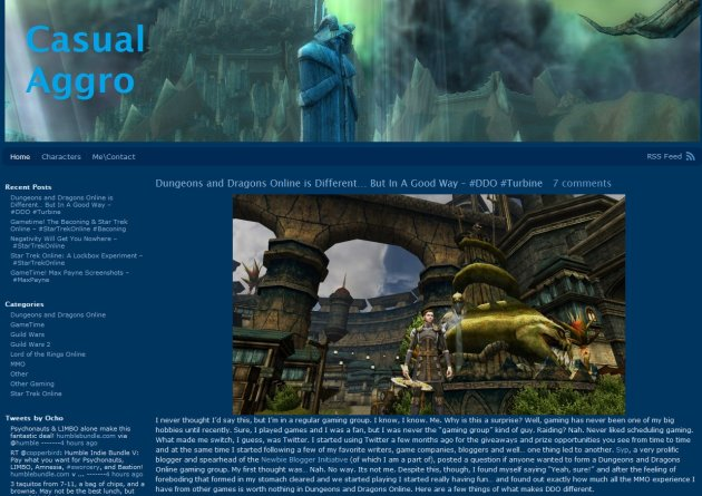 Casual Aggro MMO Blog Home Page