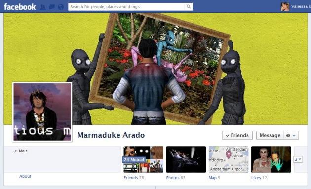 Screen Cap of Marmaduke Arado's Facebook Timeline Cover