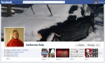 Screen Cap of Catherine Daly's Facebook Timeline Cover