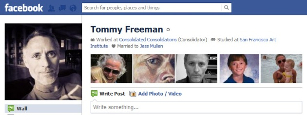 Screen Cap of Tommy Freeman's Facebook Profile Photo