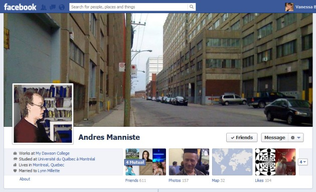 Screen Cap of Andres Manniste's Facebook Timeline Cover