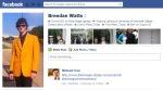 Screen Cap of Brendan Watts Facebook profile pix