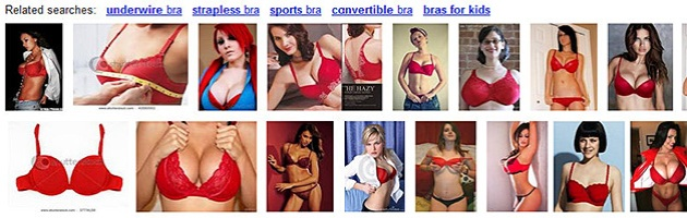"""Results from Google Image Search for the term """"red bra"""""""