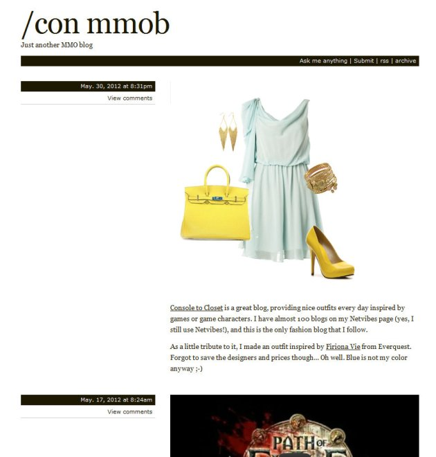 home page of blog /con mmob