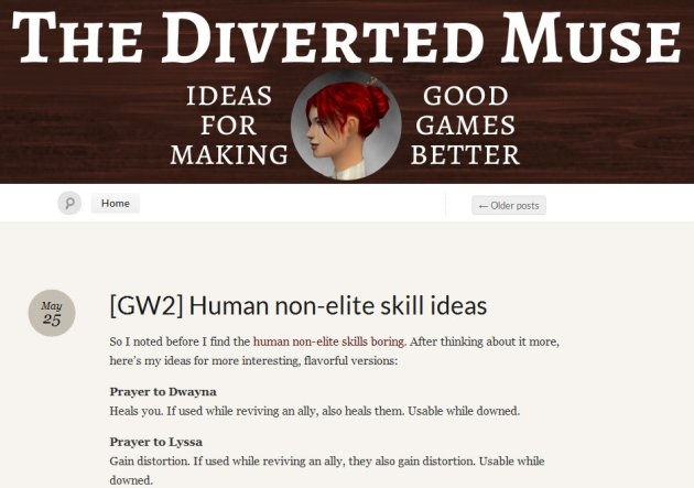 Home page of MMO Blog The Diverted Muse