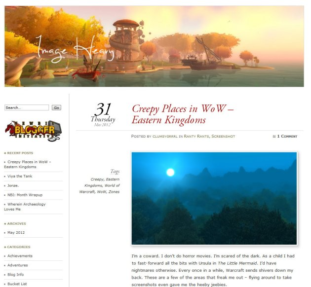 screen shot of Image Heavy, an MMO Gaming Blog