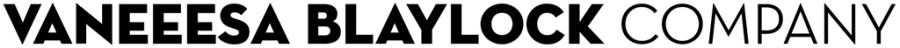 Vaneeesa Blaylock Company typographic logo