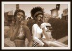 Sepia Toned image of Jodi Nikolaidis, Vaneeesa Blaylock & Laurel Leavit