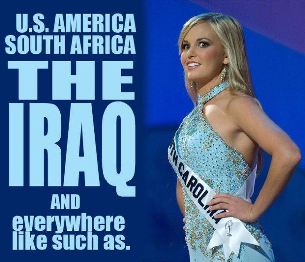 Miss Teen South Carolina, Caitlin Upton, Finalist for Miss Teen USA 2007 with text from her infamous map question answer