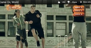 "Screen Cap from Nike ""Game On World"" video spot"