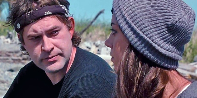 Darius Britt (Aubrey Plaza) and  Kenneth Calloway (Mark Duplass) in a still frame from Safety Not Guaranteed