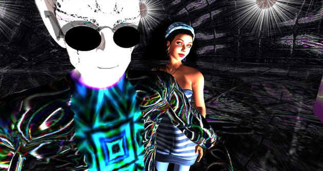 Tuna Oddfellow and Vaneeesa Blaylock at The Tunaverse. Two avatars against a patterned black background.