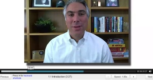 Screen Cap of Professor Kevin Werbach of Wharton Business School teaching Gamification course at Coursera online