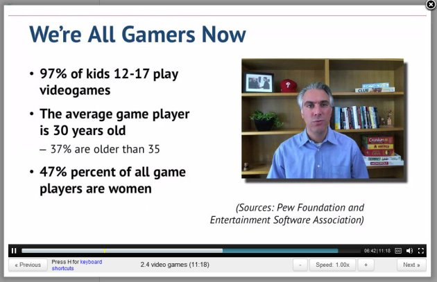 ScreenCap from Professor Kevin Werbach Gamification lecture 2.4