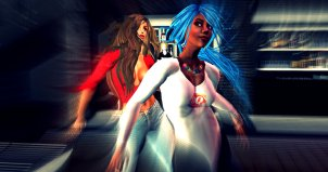 Fiona Blaylock and Vaneeesa Blaylock dancing at Club Rebublik in Second Life