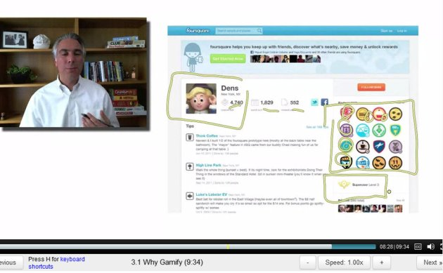 ScreenCap of Gamification Lecture 2 by Kevin Werbach