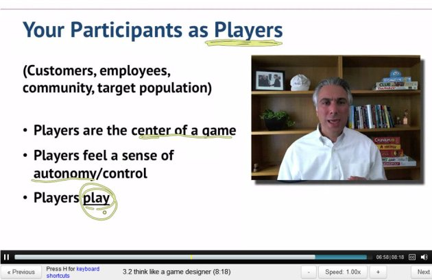 ScreenCap of Gamification Lecture 3 by Kevin Werbach