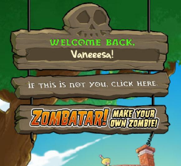 ScreenCap from Plants vs Zombies