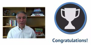 Coursera / Wharton School Gamification class by Kevin Werbach, Trophy / Badge for completing 1st 1/2 of the course!